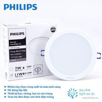 đèn âm trần philips DN027B 7w
