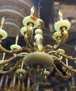 đèn chùm đồng đá