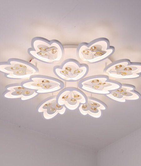 đèn trang trí chung cư, đèn trang trí nhà chung cư trần thấp
