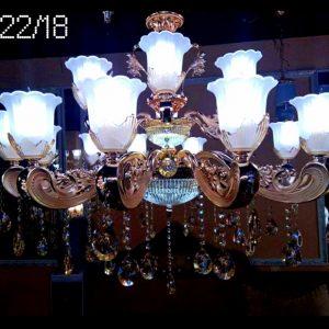 mẫu đèn chùm cho phòng khách