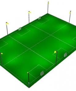 Cách bố trí đèn chiếu sáng sân thể thao