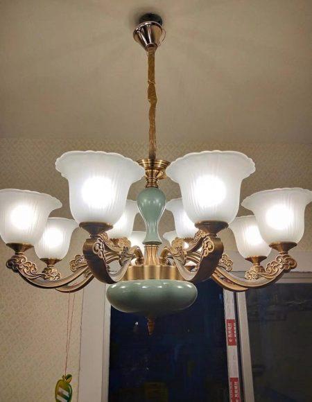 đèn chùm giá rẻ, đèn chùm giá công trình
