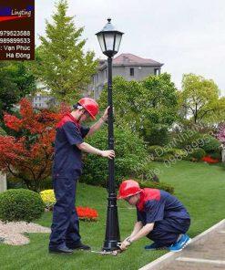 Đèn cột sân vườn cho biệt thự nhà vườn (2)