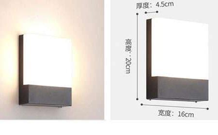 Kích thước Đèn tường led hiện đại