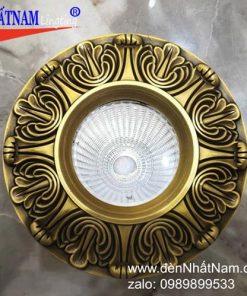 Đèn âm trần đồng cổ điển NN286-76