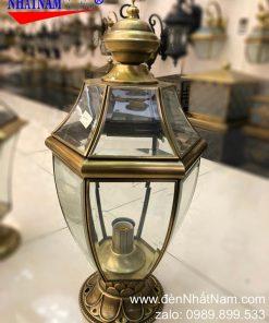 đèn trụ cổng bằng đồng