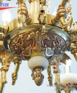 Đèn chùm đồng mạ vàng 1241-16